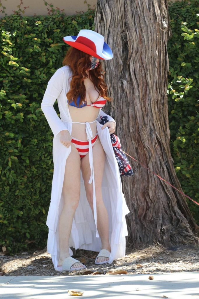 Phoebe Price in a Patriotic Bikini