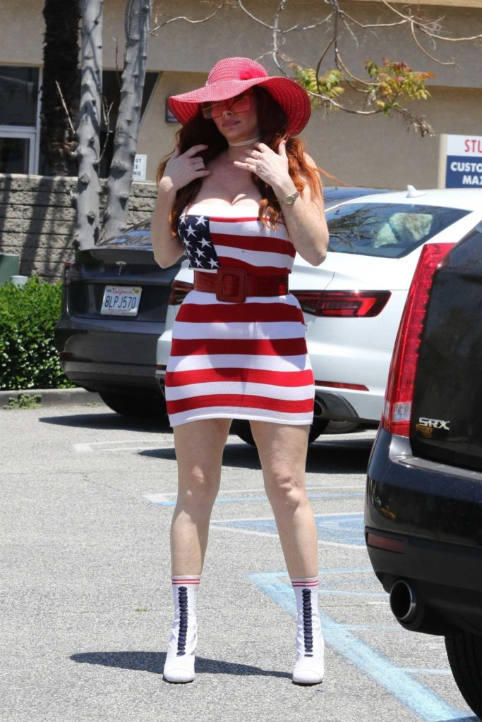 Phoebe Price in a Patriotic Dress