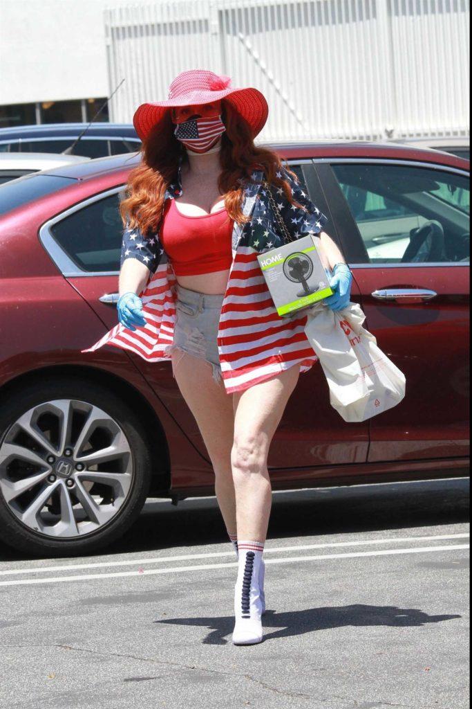 Phoebe Price in a Patriotic Dress