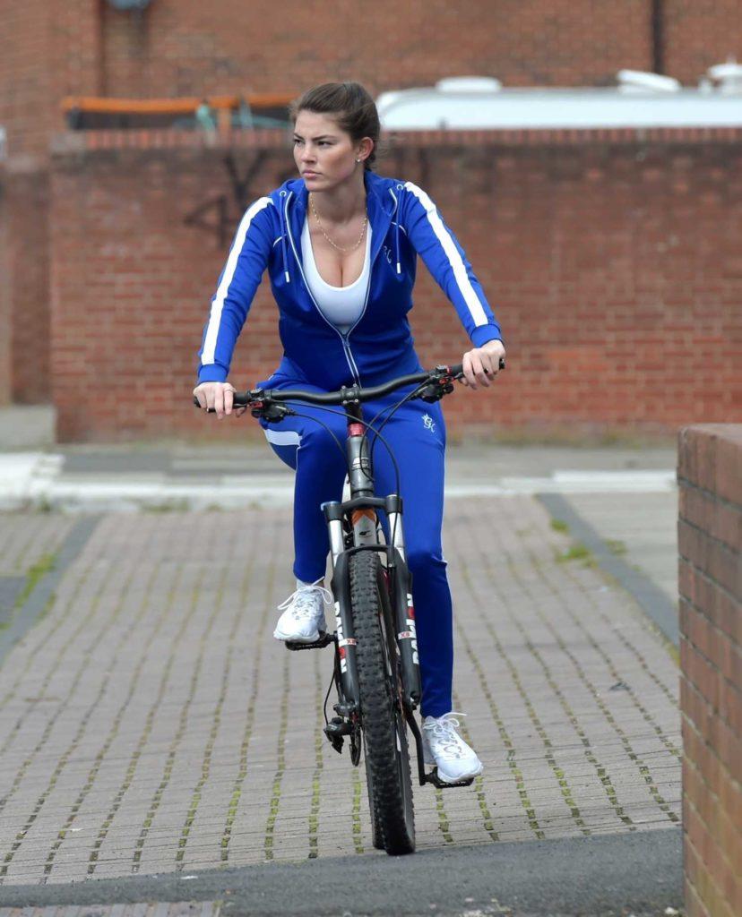 Rebecca Gormley in a Blue Tracksuit