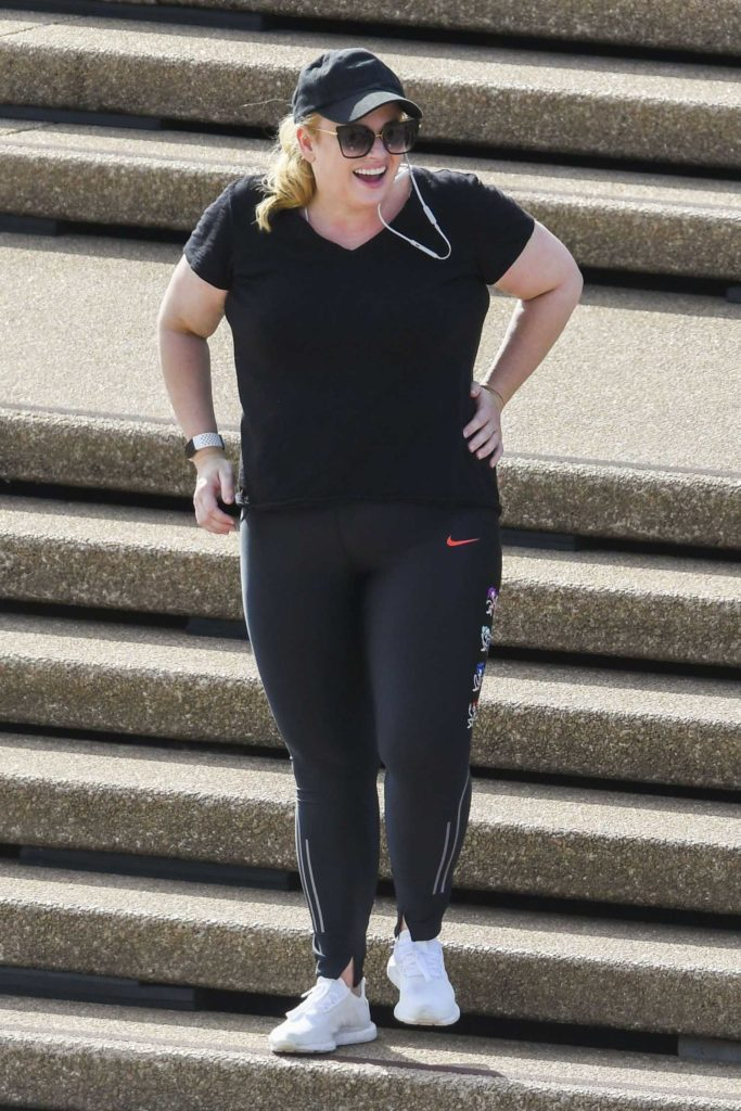 Rebel Wilson in a Black Cap