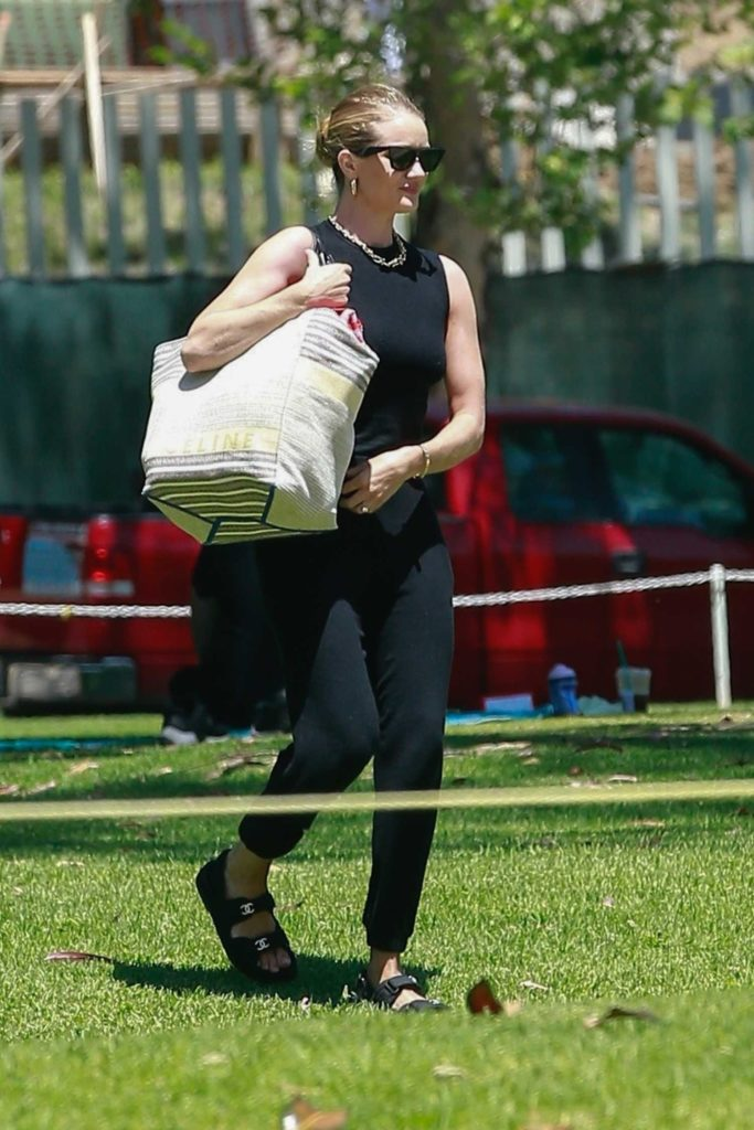 Rosie Huntington-Whiteley in a Black Top