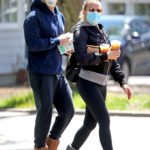 Scarlett Johansson in a Protective Mask Was Seen Out with Colin Jost in New York