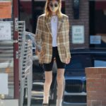 Whitney Port in a Plaid Blazer Was Seen in Studio City