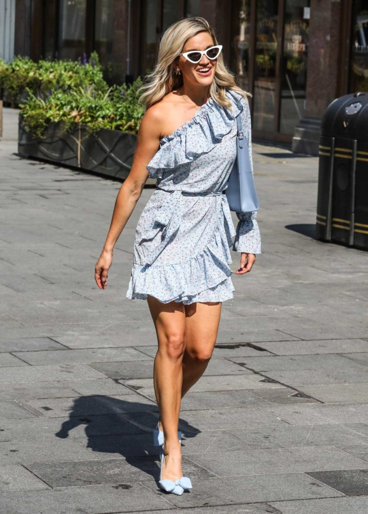 Ashley Roberts in a Light Blue Mini Dress