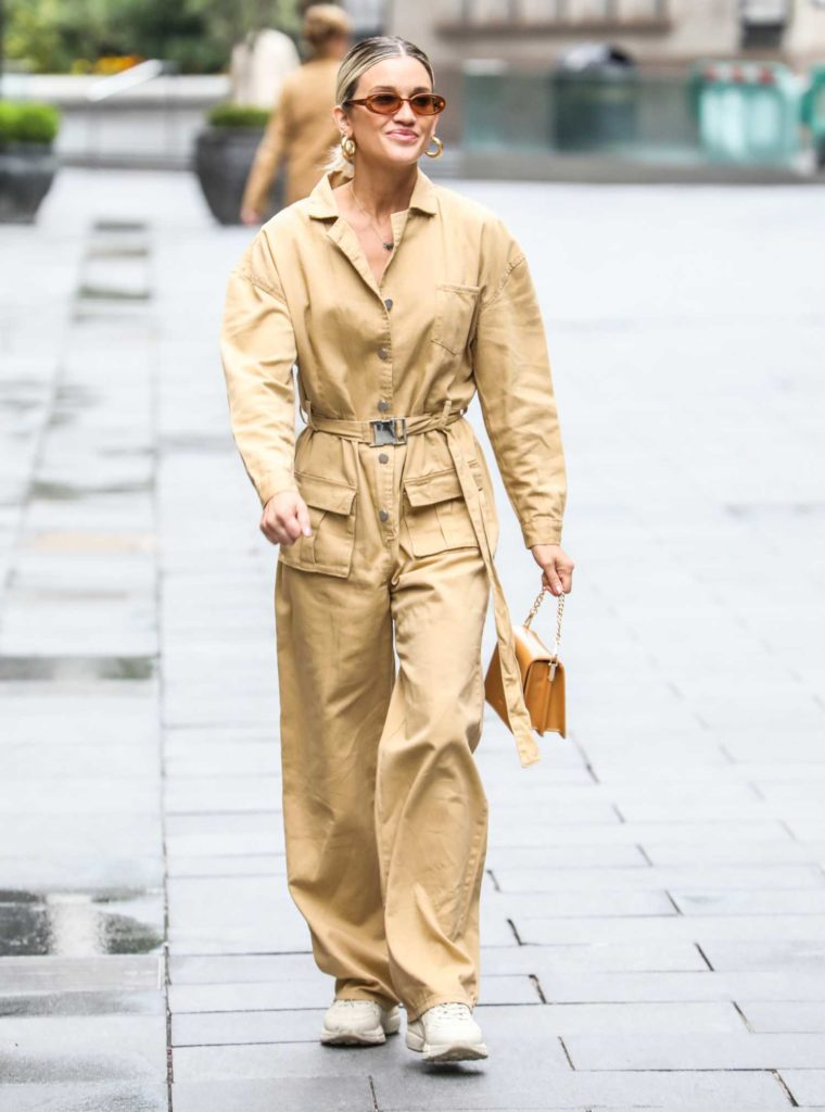 Ashley Roberts in a Yellow Coverall