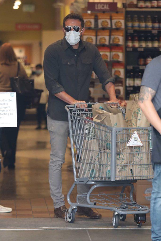 Ben Affleck in a Gray Shirt