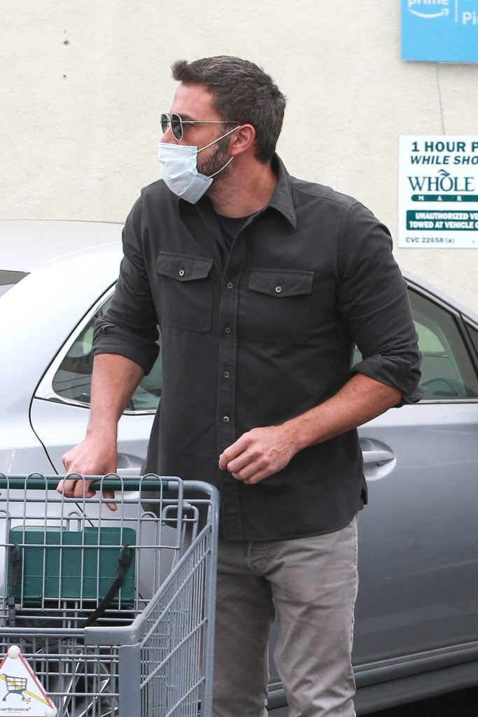 Ben Affleck in a Gray Shirt