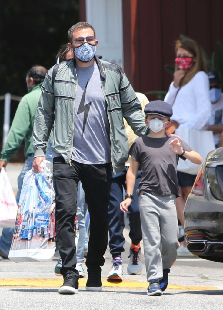Ben Affleck in a Protective Mask