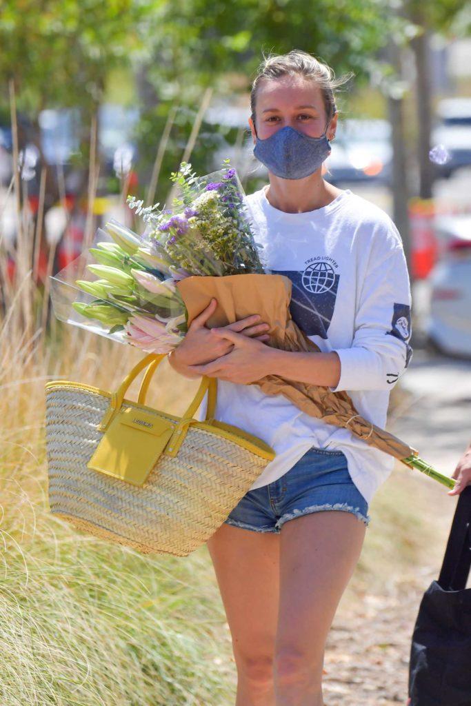 Brie Larson in a Daisy Duke Shorts