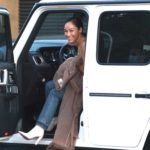 Cara Santana in a Beige Top Arrives at Nobu in Malibu