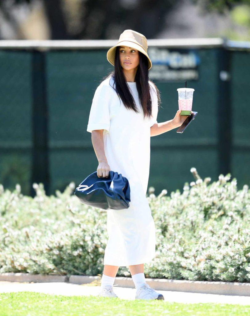 Cara Santana in a White Dress