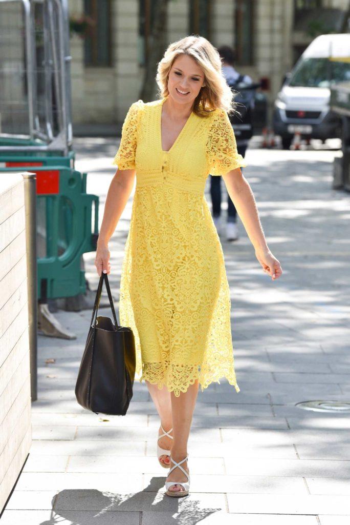 Charlotte Hawkins in a Yellow Dress