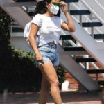 Christina Milian in a White Tee Leaves Mauro's Cafe in West Hollywood