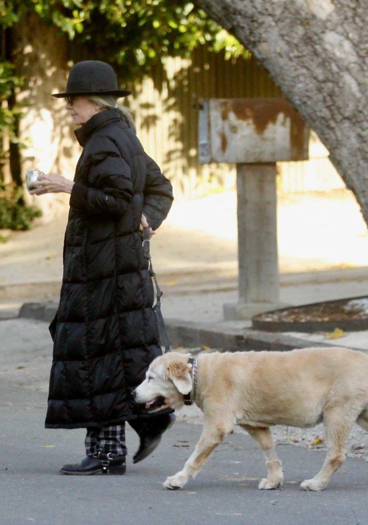 Diane Keaton in a Black Hat