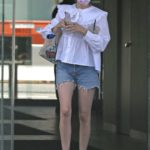 Emma Roberts in a White Blouse Was Seen Out in Los Angeles