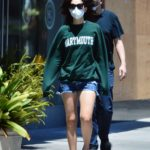 Emmy Rossum in a Green Sweatshirt Was Seen Out with Sam Esmail in West Hollwood