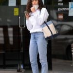 Emmy Rossum in a White Sweatshirt Was Seen Out with Her Husband Sam Esmail in Los Angeles