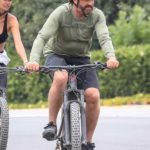 Gerard Butler Does a Bike Ride Out with Morgan Brown in Malibu