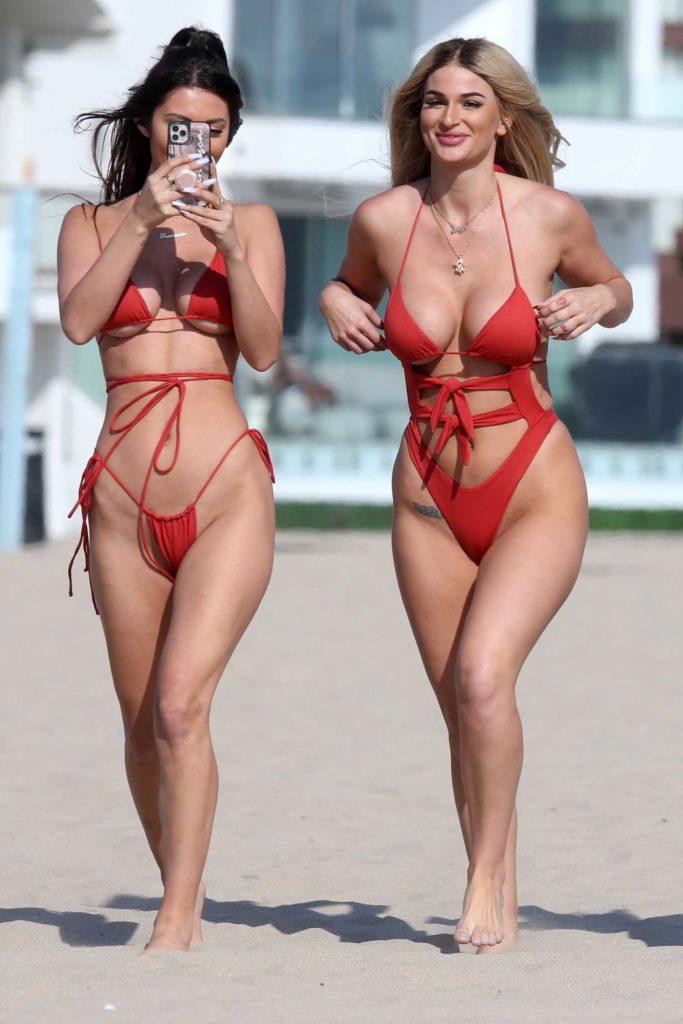 Haley Cureton in a Red Bikini