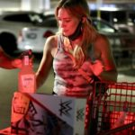 Hilary Duff in a Protective Mask Goes Shopping at Target in Los Angeles
