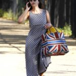 Jenna Coleman Leaves a Picnic in London