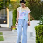 Jessica Gomes in a Colorful Tee Was Seen Out in Los Angeles
