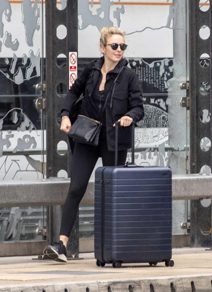 Jodie Comer in a Black Jacket