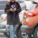 Jodie Comer in a Blue Cap Goes Shopping at Her Local Sainsbury's Store in Liverpool