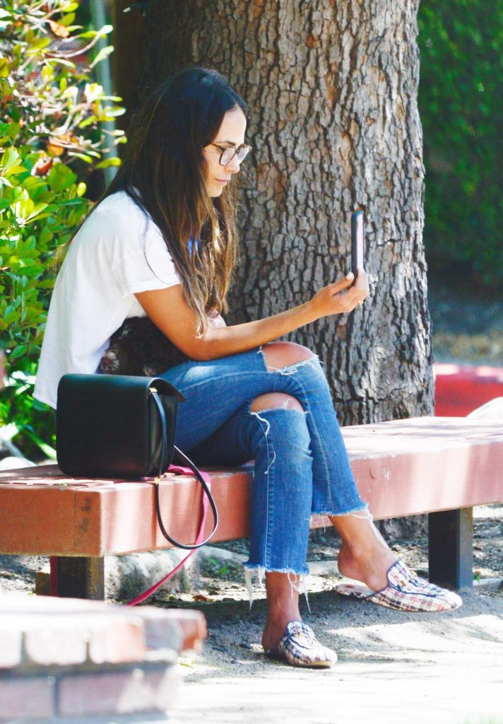 Jordana Brewster in a White Tee