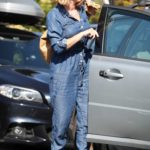 Kate Garraway in a Denim Coverall Was Seen Out in London