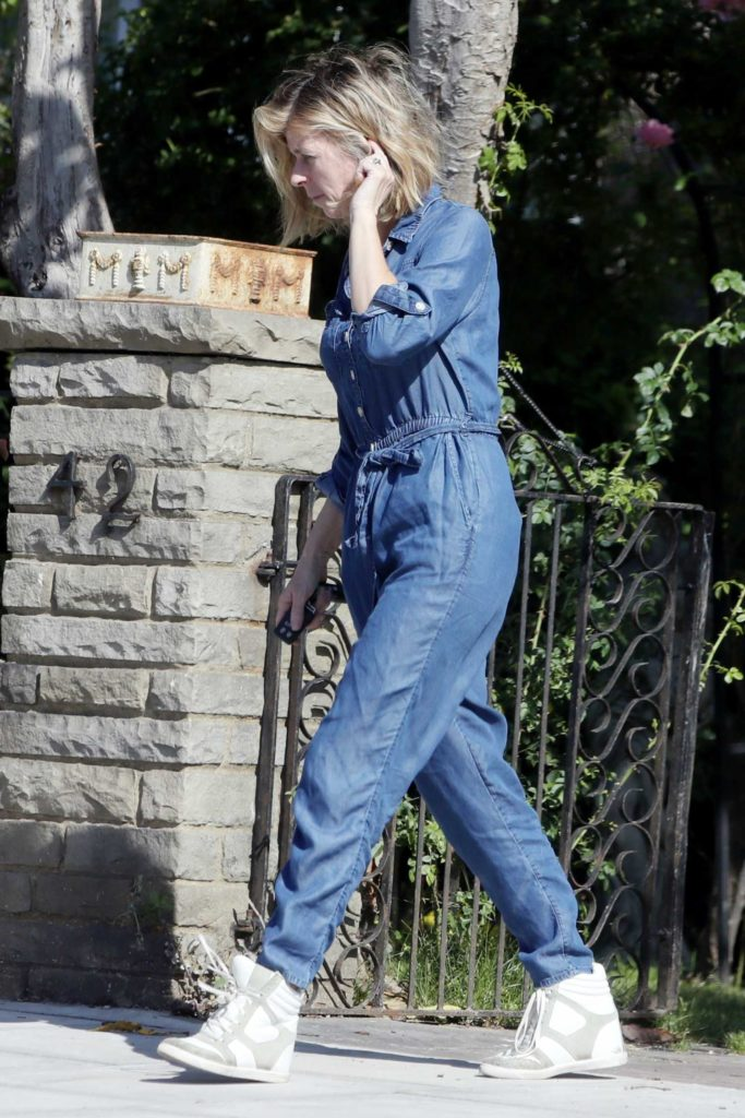 Kate Garraway in a Denim Coverall