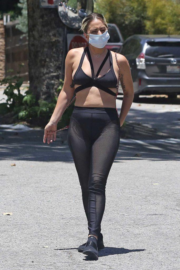 Lady Gaga in a Black Bra