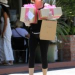 Lisa Rinna in a Black Cap Picks Up Gifts for Her Daughter in Los Angeles