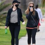 Maria Shriver in a Black Jacket Was Seen Out with Katherine Schwarzenegger in Santa Monica