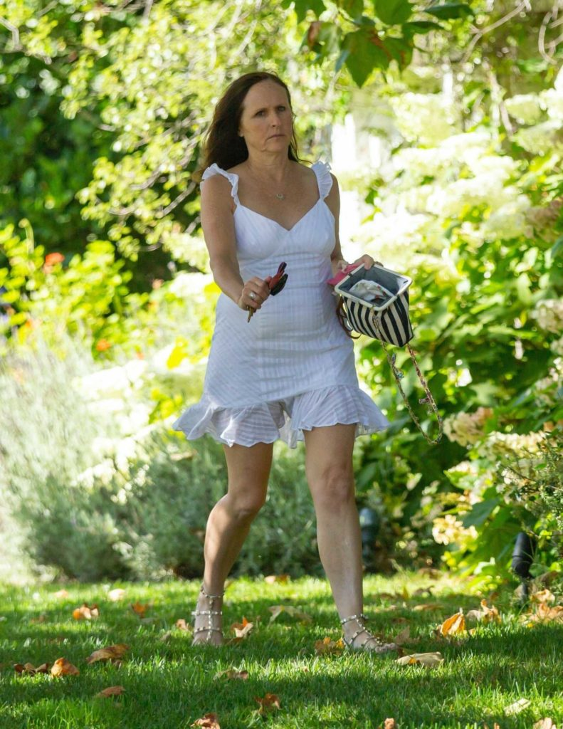 Molly Shannon in a White Dress