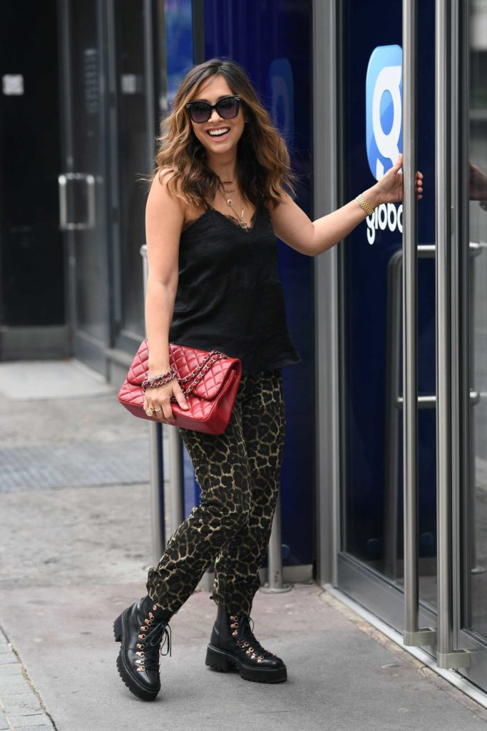 Myleene Klass in an Animal Print Pants