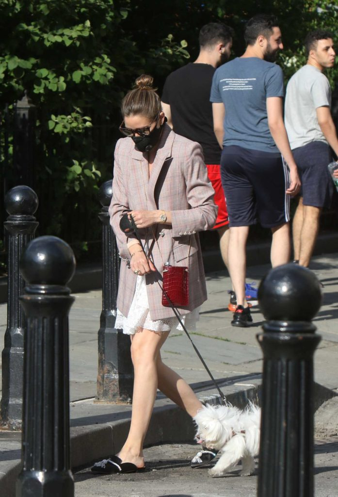 Olivia Palermo in a Black Protective Mask