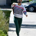 Olivia Wilde in a Green Leggings Was Seen Out in Los Angeles