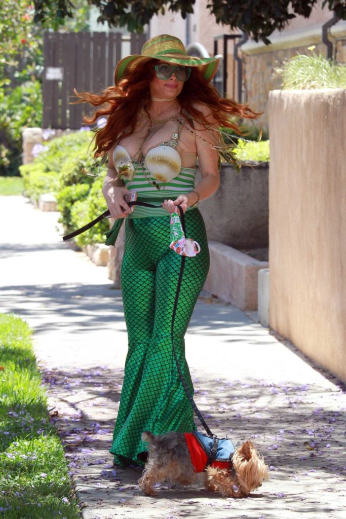 Phoebe Price in a Mermaid Outfit