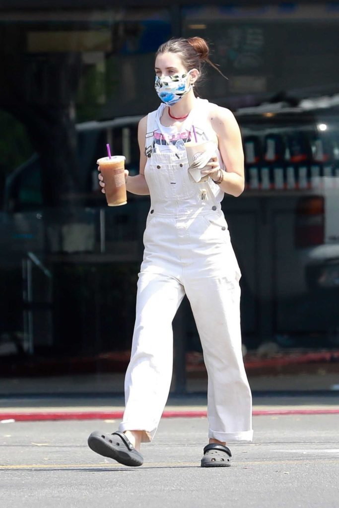 Scout Willis in a White Coverall