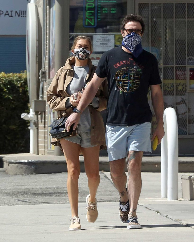 Stassi Schroeder in a Protective Mask