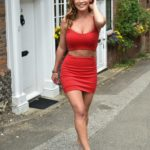 Summer Monteys-Fullam in a Red Top Was Seen Out in Chilham, Kent