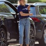 Vanessa Kirby in a Blue Tee Was Seen Out in London