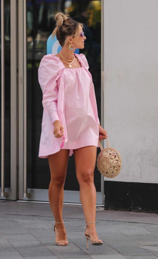 Vogue Williams in a Pink Mini Dress