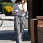 Whitney Port in a Black Protective Mask Makes a Stop at a Local Coffee Shop in Studio City