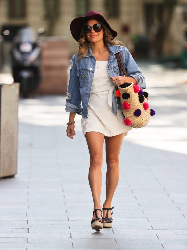 Zoe Hardman in a White Minidress