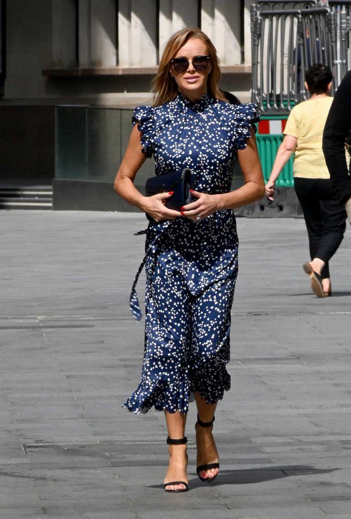 Amanda Holden in a Blue Dress
