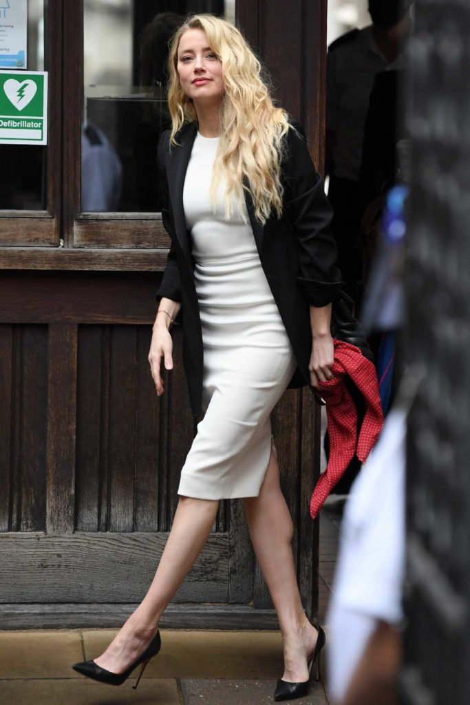 Amber Heard in a White Dress