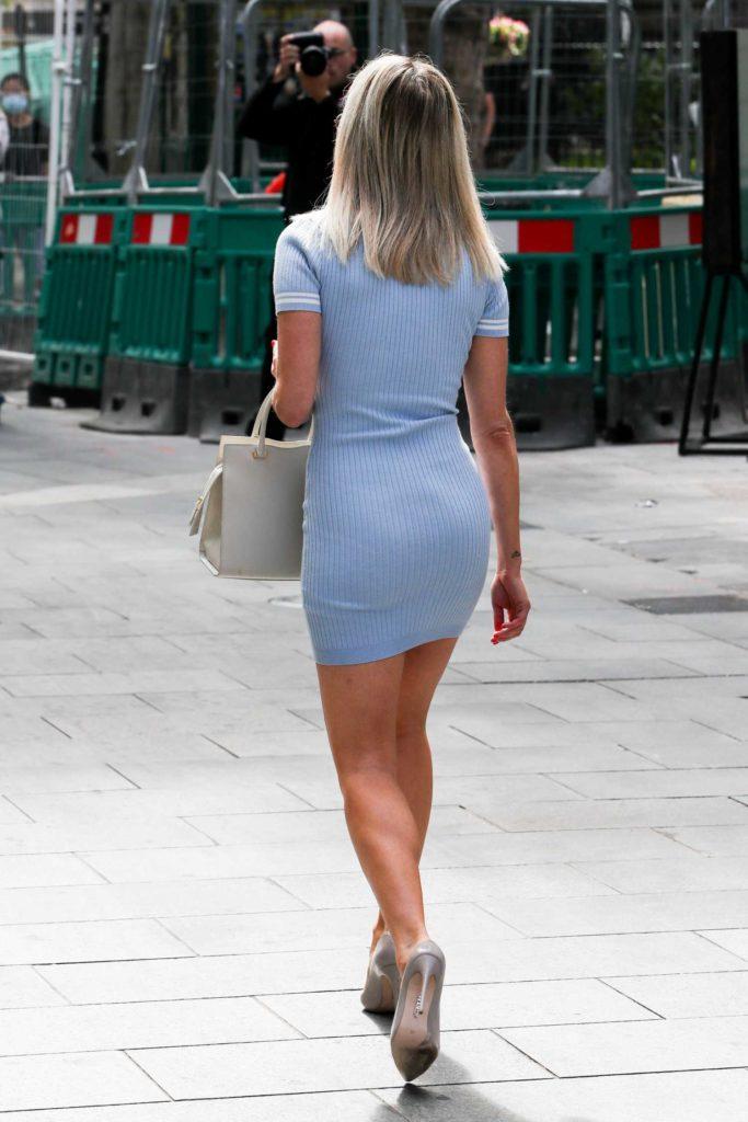 Ashley Roberts in a Blue Mini Dress